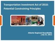 Potential Constraining Principles - Regional Transportation ...