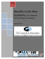 Benefits in the New - International Personnel Management Association