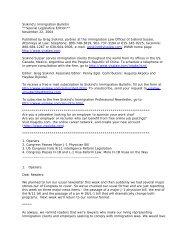 Siskind's Immigration Bulletin - Siskind, Susser