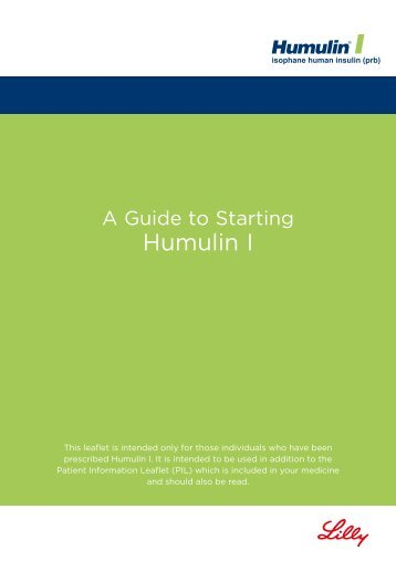 Guide to Starting Humulin I - LillyPro