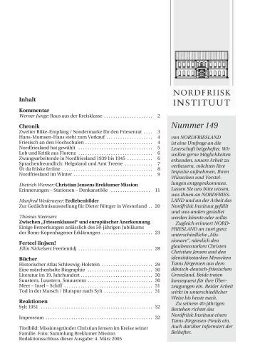 Nummer 149 - Nordfriisk Instituut