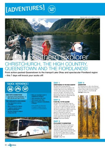 7 Day Southern Explorer - STA Travel