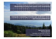 Analyses of views and panoramas taken from the places with the ...