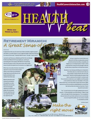 Winter 2010 Volume 13, Issue 1 - McCrone Healthbeat