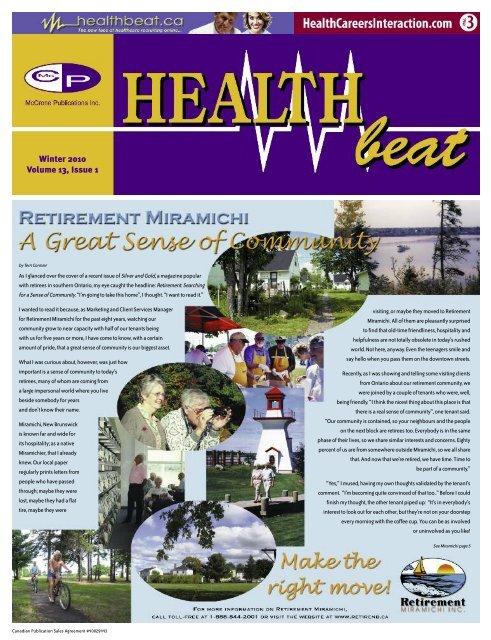 Winter 2010 Volume 13, Issue 1 - McCrone Healthbeat