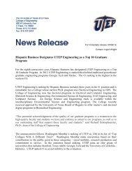 Hispanic Business Designates UTEP Engineering as a Top 10 ...