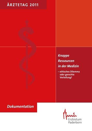 Dokumentation Ärztetag 2011 - Erzbistum Paderborn