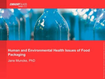 Human and Environmental Health Issues of Food Packaging ...