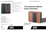 The extremely different active subwoofer - System Audio