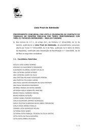 Lista Final de Admissão