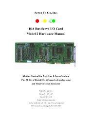 ISA Bus Servo I/O Card Model 2 Hardware Manual