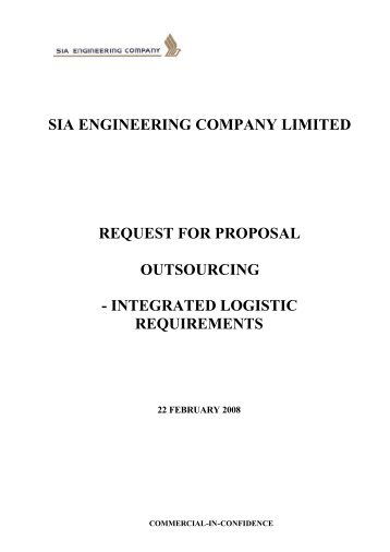 RFQ - Tender Specs for Outsourcing SIAEC Integrated Logist…