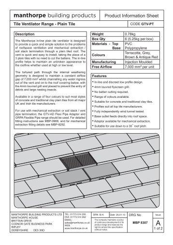 Plain Tile Ventilator