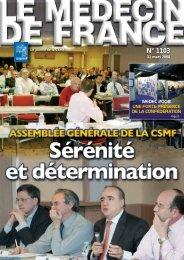 Médecin de France n°1103 - 31 mars 2008 - CSMF