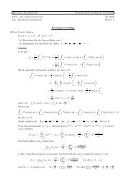 Lösungsvorschläge - TUM M7/Analysis - Technische Universität ...