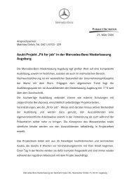 "Azubi-Projekt ""Fit for job"" - Mercedes-Benz Niederlassung Augsburg"