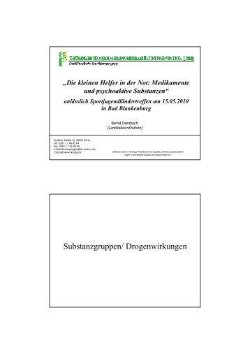 Die kleinen Helfer in der Not: Medikamente und psychoaktive ...