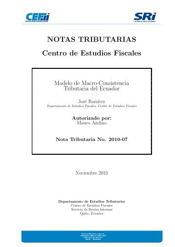 NT 2010-07 - Centro de Estudios Fiscales
