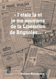 Libe?ration 1944 - Ville de Brignoles