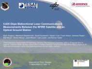 Presentation Technical Template for The Aerospace Corporation