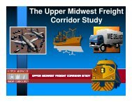 The Upper Midwest Freight Corridor Study - Indiana Logistics