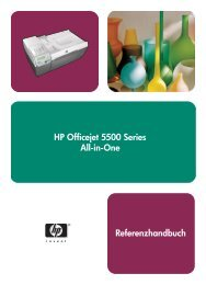 HP Officejet 5500 Series All-in-One Referenzhandbuch