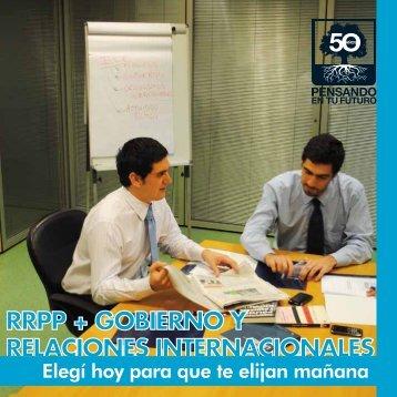 yo RRPP, Gobierno y Relaciones InternacionalesLOW - Universidad ...
