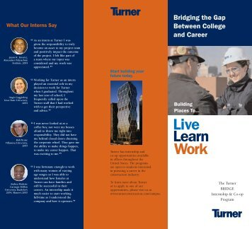 Turner Construction: Intern Program Brochure - Brookman ...