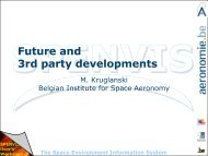 Future and 3rd party developments (M. Kruglanski) - SPENVIS