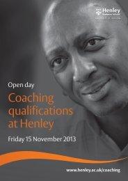 B07189 Coaching Open Day Nov 13 FINAL.indd - Henley Business ...