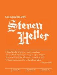 A conversation with: - Steven Heller
