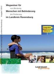 Wegweiser für Menschen mit Behinderung im Landkreis Ravensburg