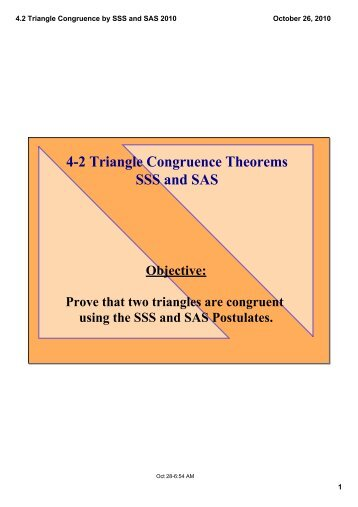 4.2 Triangle Congruence by SSS and SAS 2010.pdf