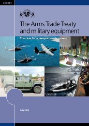 The ATT and Military Equipment - Control Arms
