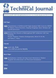 Full Paper Tutorial Short Paper Letters - Nectec