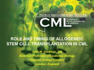role and timing of allogeneic stem cell transplantation in cml