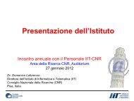 Presentazione dell'Istituto - Istituto di Informatica e Telematica - Cnr