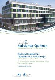 Ambulantes Operieren - Klinik für Orthopädie und Unfallchirurgie ...