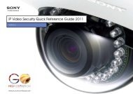 Sony IP Video Security Quick Reference Guide 2011 - Use-IP