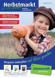 Simmerath Magazin Herbstmarkt 2013