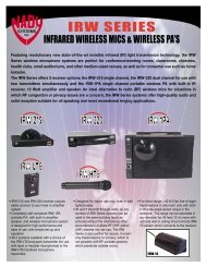 Portable PA and IR Wireless Microphone System - Nady
