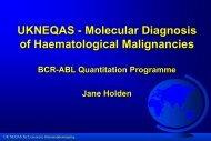 UKNEQAS for BCR-ABL