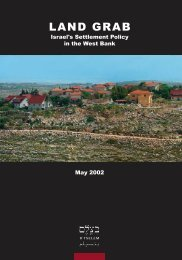 B'Tselem - Land Grab: Israel's Settlement Policy in the West Bank ...