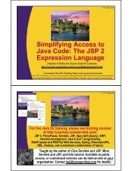 The JSP 2 Expression Language - Java Programming