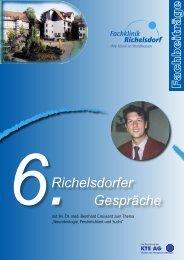 Richelsdorfer Gespräche - AHG Allgemeine Hospitalgesellschaft