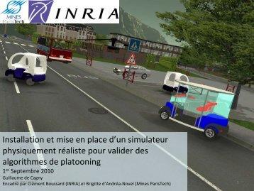 Installation et mise en place d'un simulateur physiquement réaliste ...