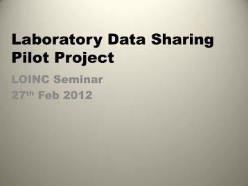 Laboratory Data Sharing Pilot Project