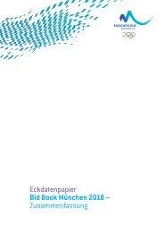 Eckdatenpapier Bid Book München 2018 – Zusammenfassung