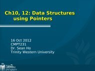 Ch10, 12: Data Structures using Pointers