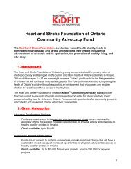 The Heart and Stroke Foundation, a volunteer-based health charity ...